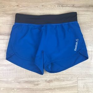 Reebok Athletic Shorts size S Small Blue Black
